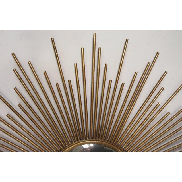 Metal Sunburst Convex Mirror For Sale - Image 7 of 10