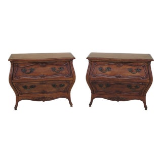 French Louis XV Century Nightstand Commodes - a Pair For Sale