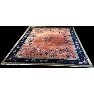 "1920s Antique Nichol Art Deco Chinese Rug-9'x11'8"" Preview"