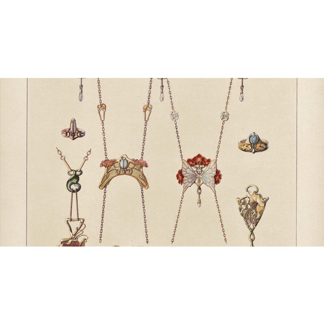 Art Nouveau Art Nouveau Jewelry Design Lithograph For Sale - Image 3 of 5