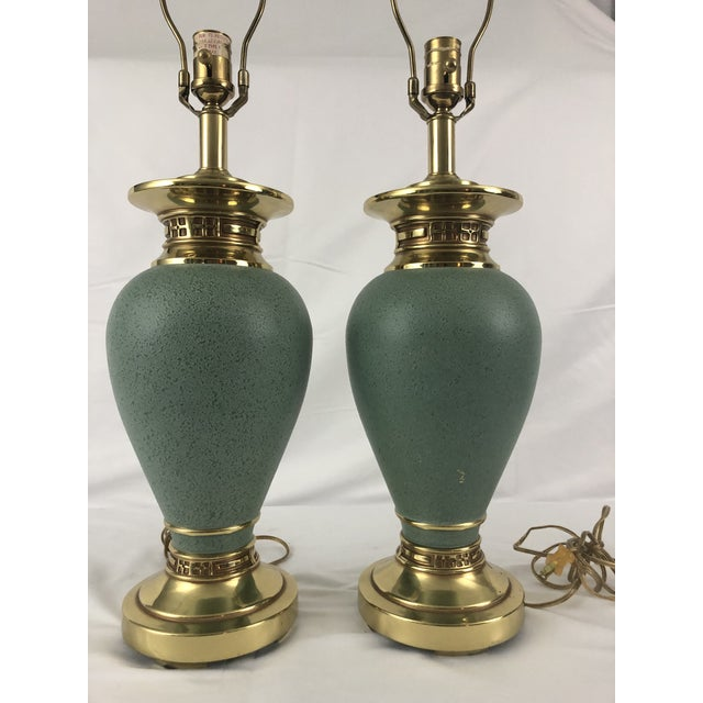 Ethan Allen Jade Colored Greco Style Lamps - a Pair For Sale In New York - Image 6 of 13