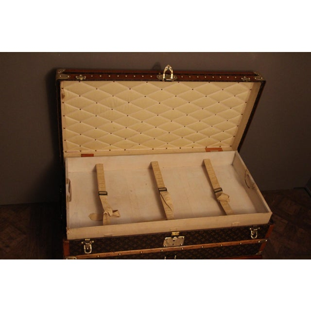 Louis Vuitton 1930s Louis Vuitton Cabin Steamer Trunk For Sale - Image 4 of 13