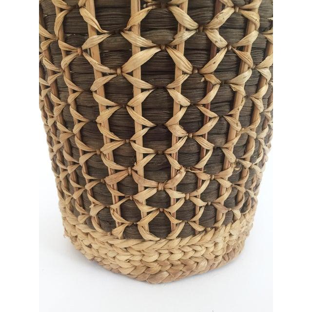 Vintage Large Two Tone Plant Basket For Sale - Image 4 of 7