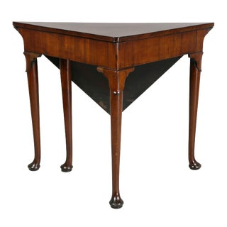 George III Mahogany Envelope Table For Sale