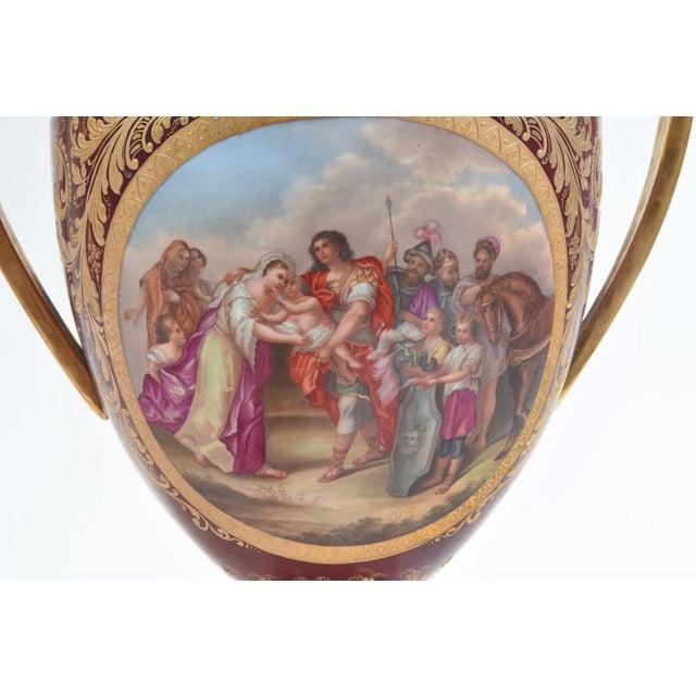 Ceramic Antique Royal Vienna Porcelain Decorative Urns - a Pair For Sale - Image 7 of 13