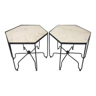 1970s Mid Century Modern Salterini 6 Sided End Tables - a Pair For Sale