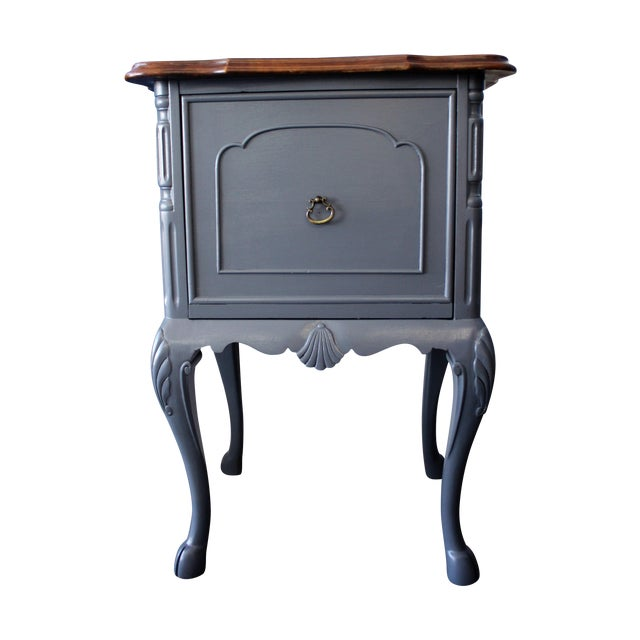 Country French Charcoal Gray Side/End Table - Image 1 of 10