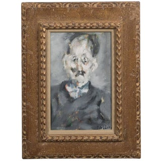 Paolo Vallorz Portrait of an Old Man of Mignardot, Oil on Canvas Dated 1964 For Sale