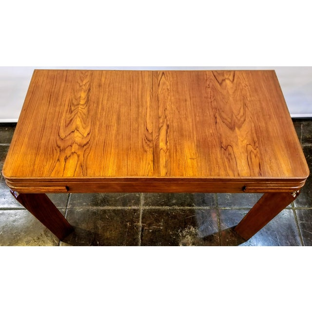 Beautiful and useful Streamlined Art Deco table from England dates to the 1920s / 1930s. Table is suitable to be utilized...