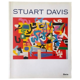 Stuart Davis Rare Vintage 1997 1st Edition Modernist Italian Exhibition Collector's Pop Art Book For Sale