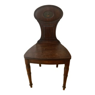 English Regency Mahogany Hall Chair For Sale