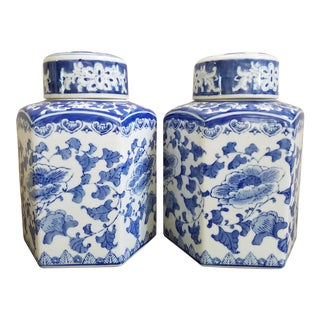 Blue & White Chinoiserie Ginger Jars, A Pair