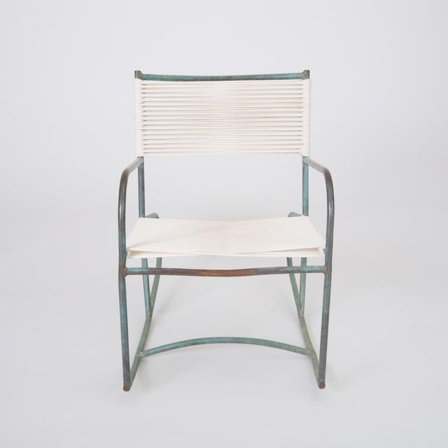 Early Model Walter Lamb Patio Rocking Chair For Sale In Los Angeles - Image 6 of 11