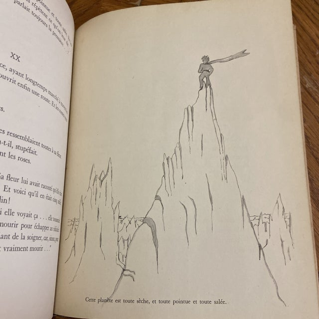 1943 Le Petit Prince Little Prince Hardcover Book French Edition Saint-Exupery For Sale - Image 10 of 10