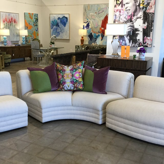 Textile Vintage 3 Piece Sectional For Sale - Image 7 of 9