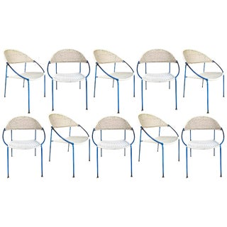 10 Chairs Model Du41 by Gastone Rinaldi for Rima, Italy, 1956 For Sale