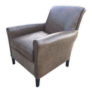 Restoration Hardware Leather Club Chair