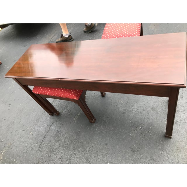 Harden Chippendale Sofa Table Credenza With Benches a Pair For Sale - Image 10 of 13