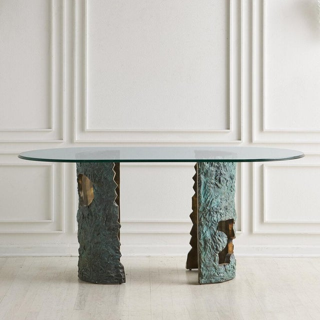 Brutalist Bronze Brutalist Dining Table by Valenti Madrid For Sale - Image 3 of 13
