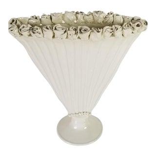 Vintage Sculptural Art Ceramic Vase, Signed For Sale