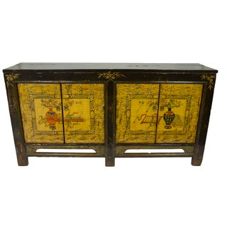 Gold & Brown Mongolian Sideboard For Sale