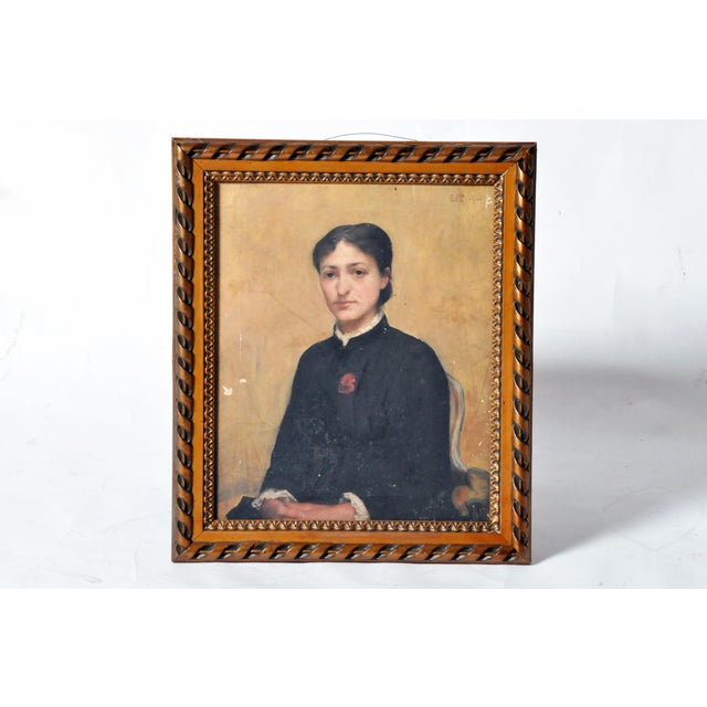This painting of a seated woman is made from oil on canvas and is from France, circa 1900. The artist, E. J. Pichot, was a...