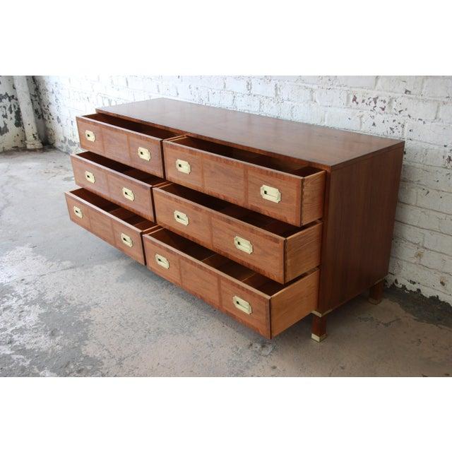 Baker Furniture Milling Road Campaign Style Long Dresser or Credenza For Sale - Image 9 of 13