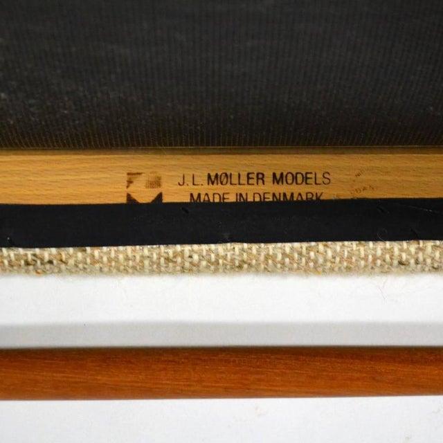 Teak Niels O. Møller Set of Six Model 75 Chairs For Sale - Image 7 of 9