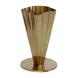 Scandinavian Modern Brass Vase For Sale