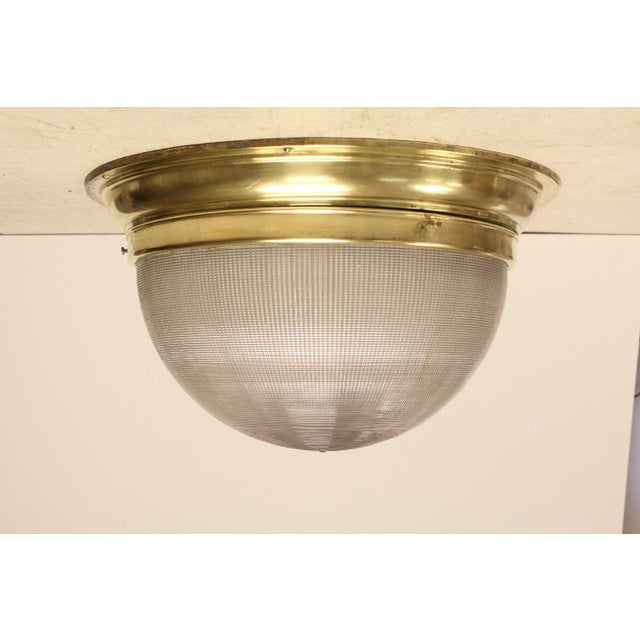 Mid-Century French Holophane Flush Mount For Sale In Chicago - Image 6 of 6