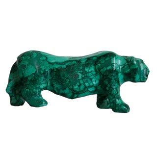 Green Malachite Tiger Sculpture