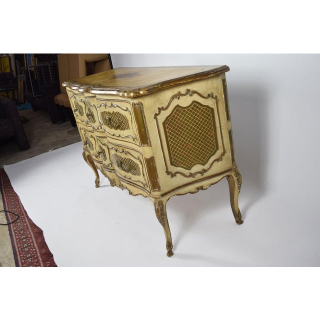 Early 19th Century Italian Rococo Style Painted Commode For Sale - Image 5 of 10