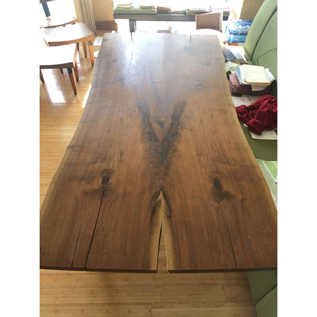 Scandinavian Modern Ralph Pucci Walnut Wood Dining Table For Sale In Miami - Image 6 of 8