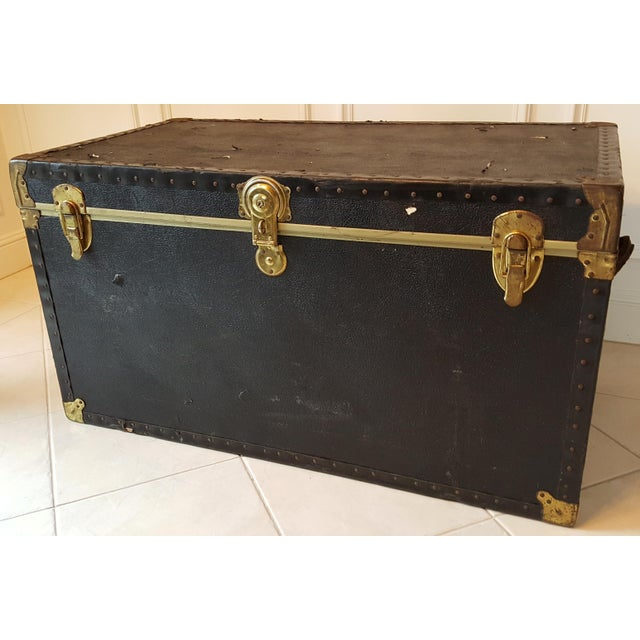 Vintage Extra Large Trunk - Image 2 of 11