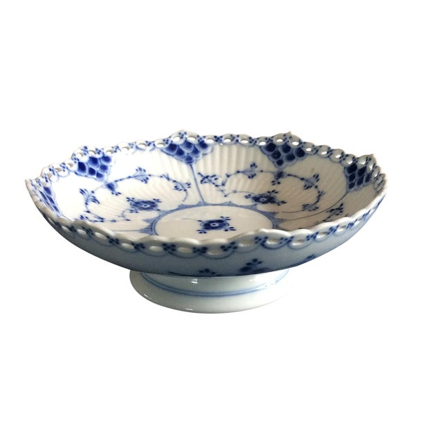 Royal Copenhagen Full Lace Footed Candy Dish - Image 1 of 5