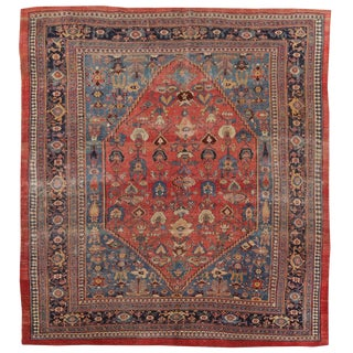"Antique Persian Bijar Rug-7'6""x10'10"" For Sale"