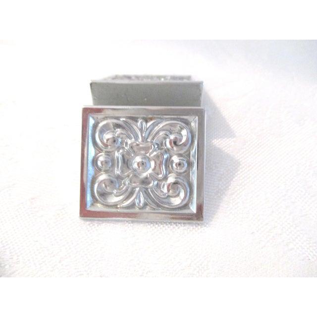 Art Deco Vintage Silver Knife & Place Card Holders - Set of 8 For Sale - Image 3 of 6