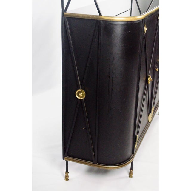 Modern Campaign Style Bakers Rack and Cabinet For Sale - Image 11 of 13