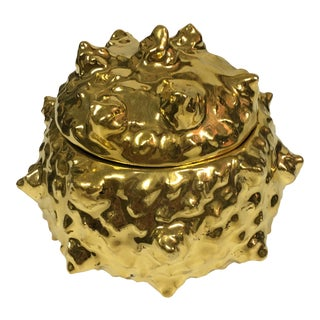 Spiky Covered Gold Bowl For Sale