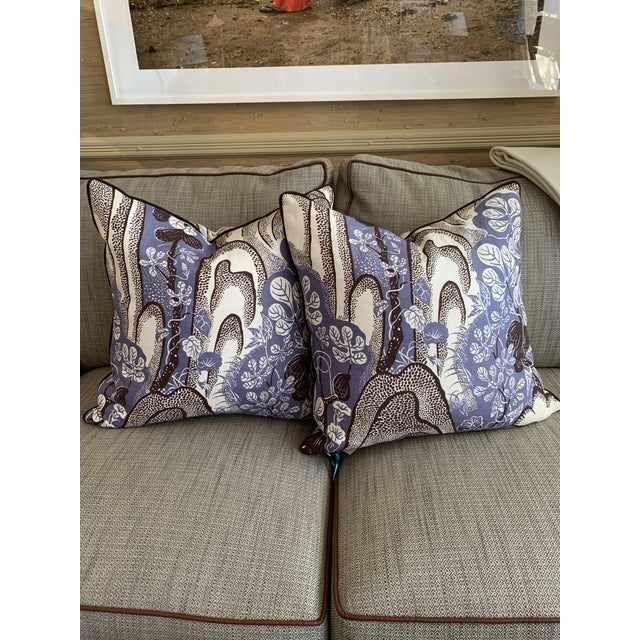 Abstract Expressionism Josef Frank Throw Pillows- A Pair For Sale - Image 3 of 3