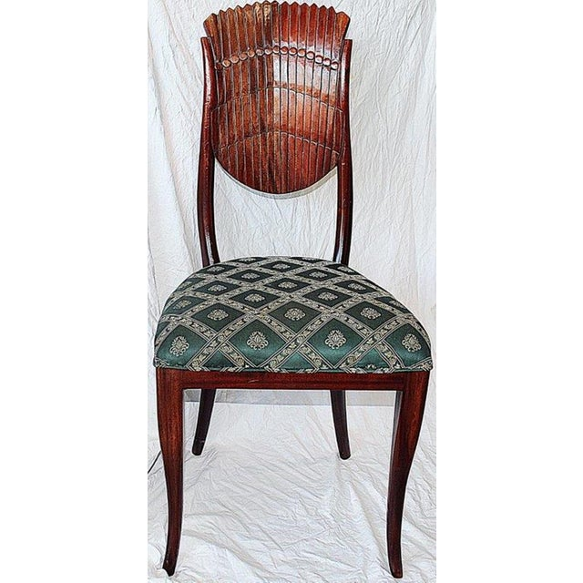 Art Nouveau Scallop-Carved Side Chair For Sale - Image 3 of 7