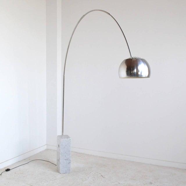Distinguished Achille Castiglioni Arco Lamp By Flos Decaso