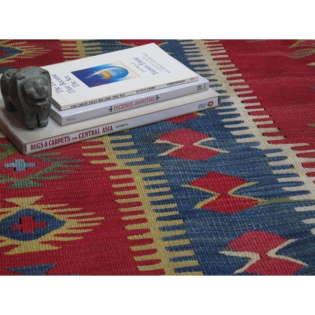 Blue Antique Sharkoy Kilim For Sale - Image 8 of 9