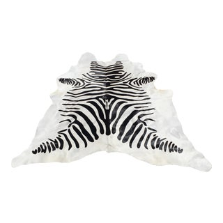 Saddlemans Zebra Cow Hide - 6′8″ × 7′8″ For Sale