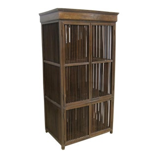 Vintage Sarreid LTD Philippine Teak Cabinet Cupboard