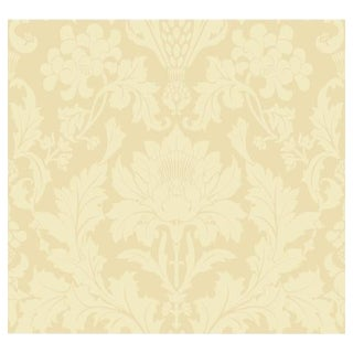 Cole & Son Fonteyn Wallpaper Roll - Vintage Yellow For Sale