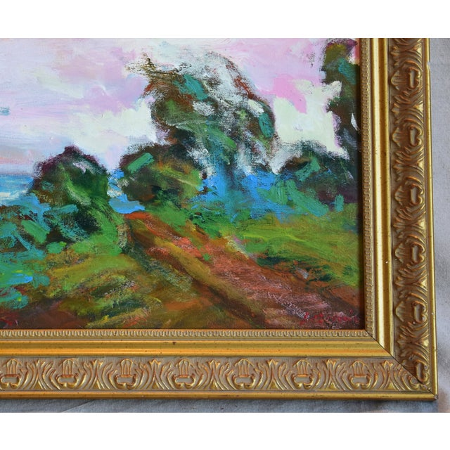 California Santa Barbara Landscape Oil Painting by Juan Guzman For Sale - Image 4 of 10
