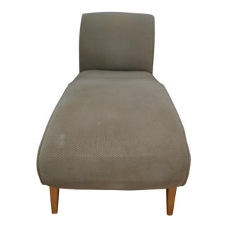 Contemporary Sage Green Velour Chaise Lounge For Sale