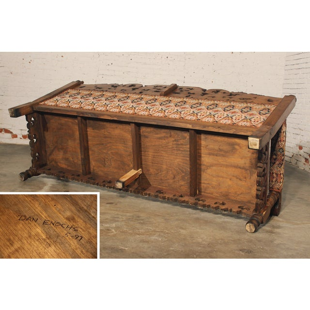 Spanish Carved Pine Bench - Image 10 of 10