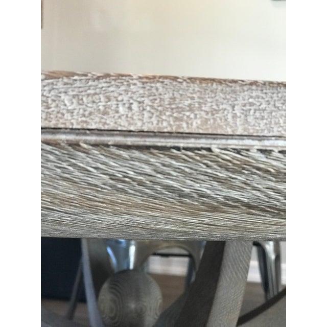 Global Views Klismos White Oak Round Table - Image 6 of 11